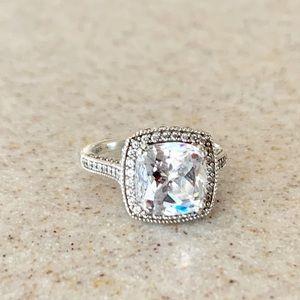 High quality sterling silver Cz Swarovski ring